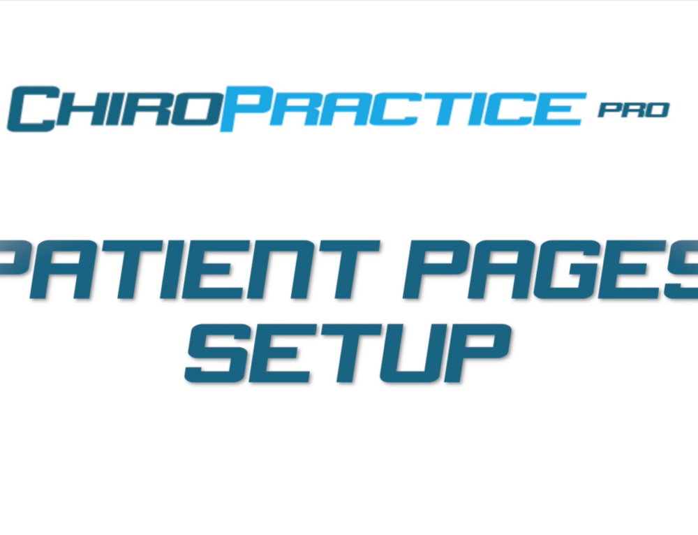 Patient Pages Setup